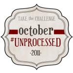 October Unprocessed Month